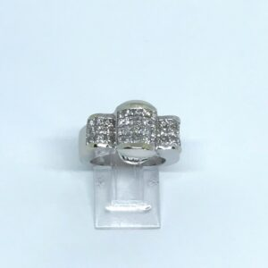 white gold eighteen karat invisible set princess cut and diamond baguettes approximately five point ten total carts
