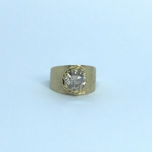 yellow gold 14 karat round brilliant diamond solitaire approximately 3 carats 6 point 5 grams