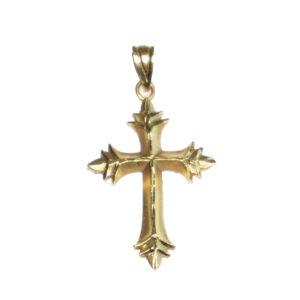 yellow gold fourteen karat religious cross