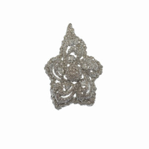 white gold fourteen karat pin with pear cut diamond approximately one fourth of one carat and approximately three hundred and fifty diamond chips