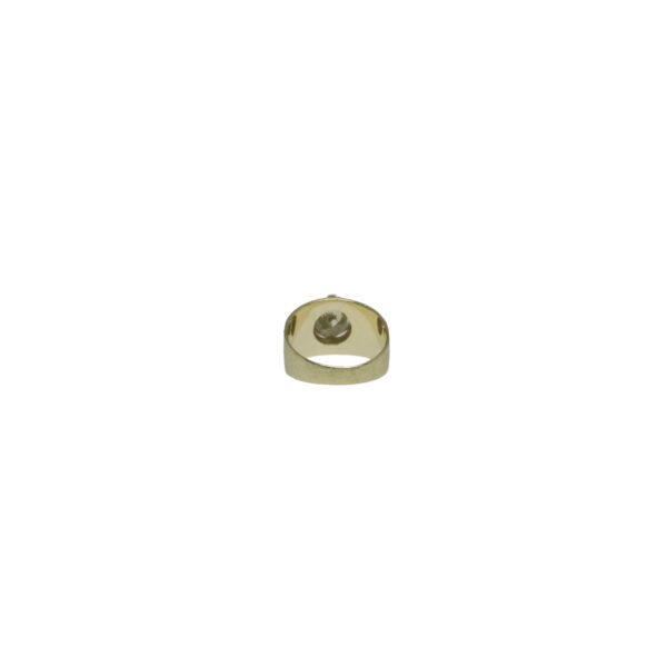 yellow gold 14 karat round brilliant diamond solitaire approximately 3 carats