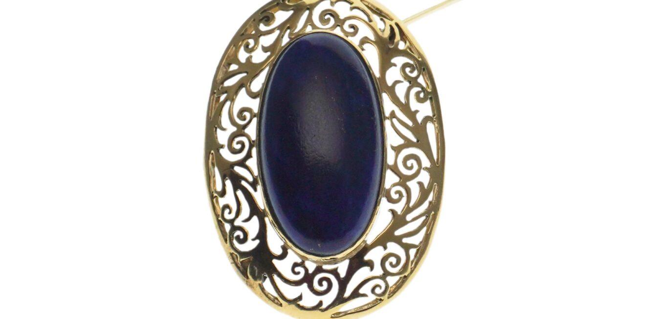 Cabochon Lapis Lazuli Pin