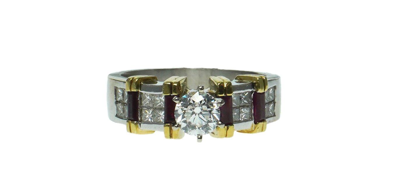 Engagement Two-Tone Diamond Ring
