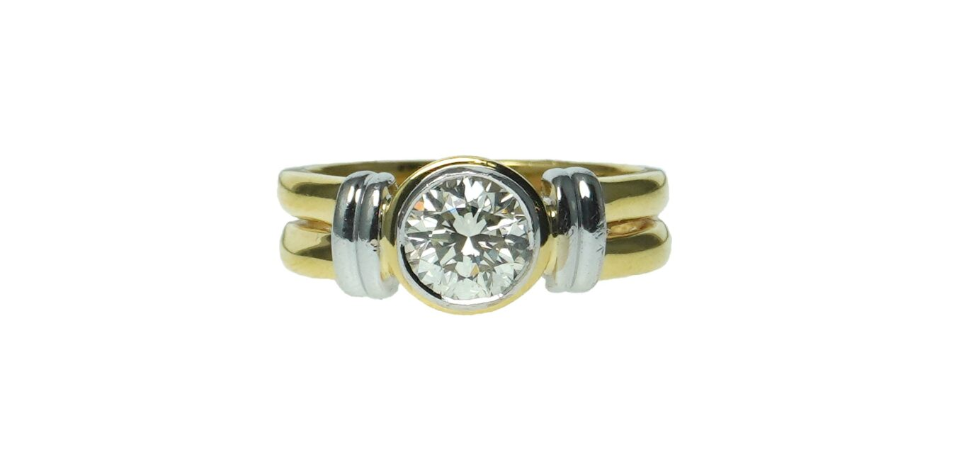 Statement Gold and Diamond Ring