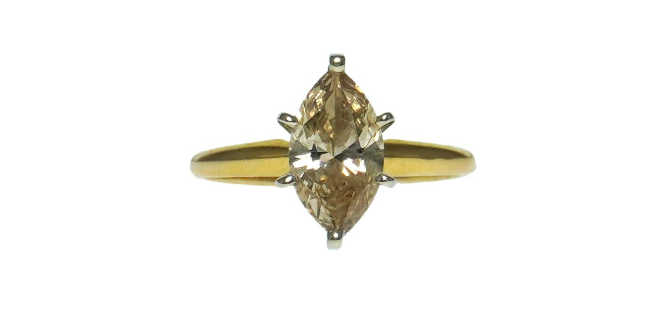 Solitaire Marquise Diamond Ring