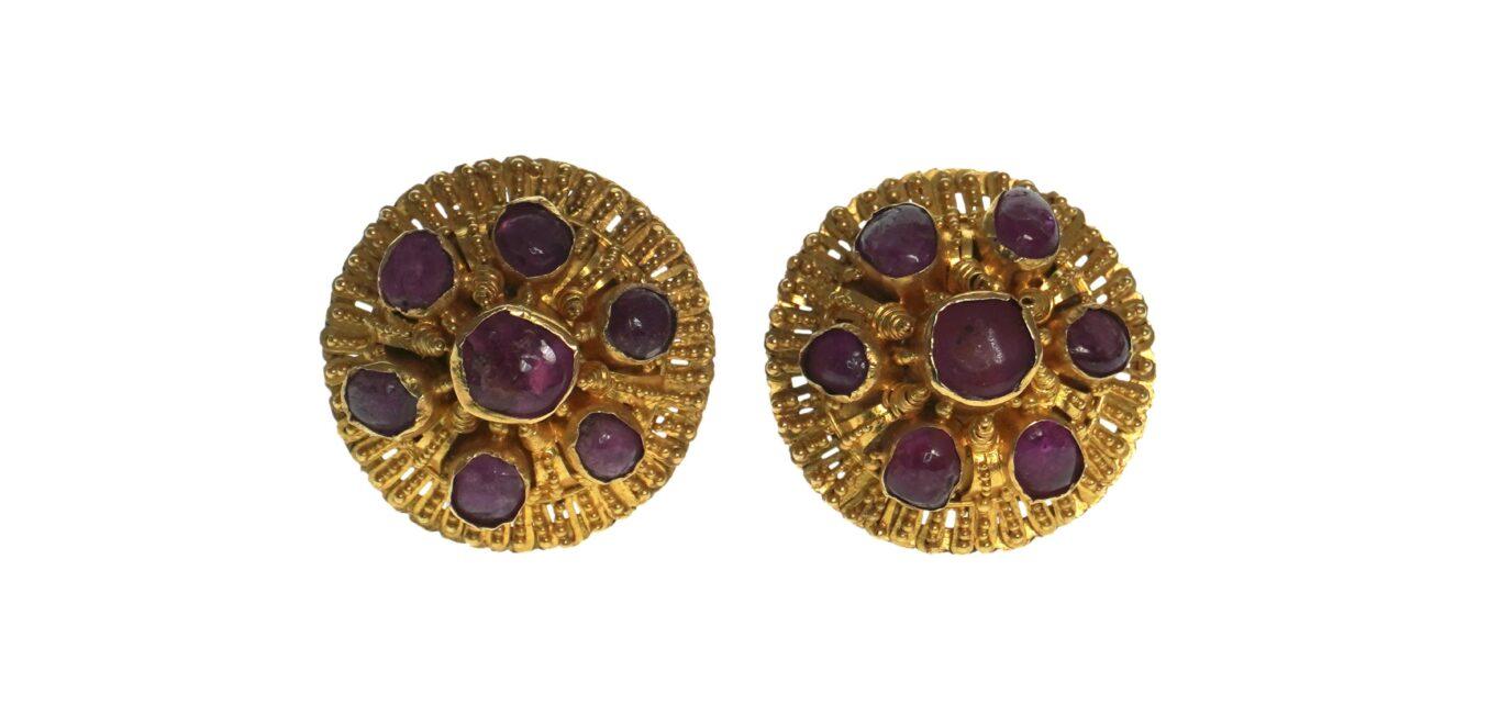 Venetian Etruscan Style Earrings