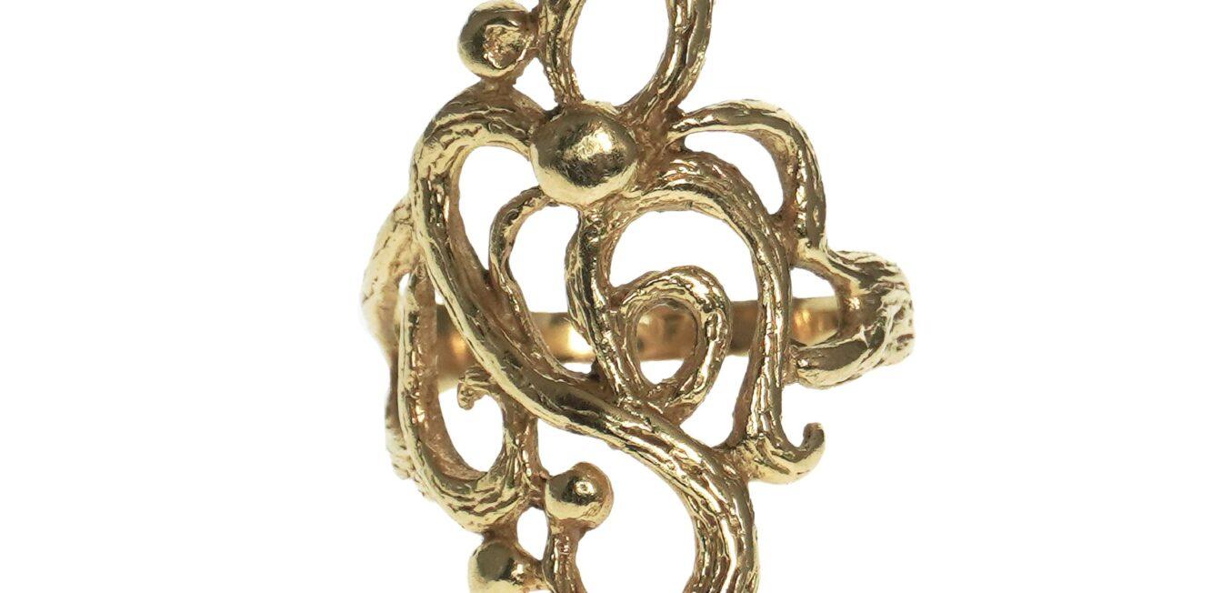 Modern Open Swirl Design Ring