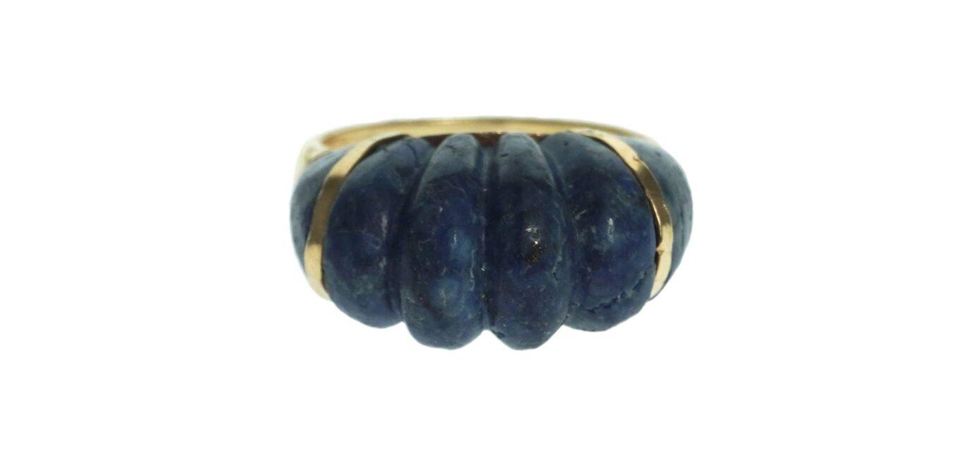 Dome Shaped Blue Lapis Ring