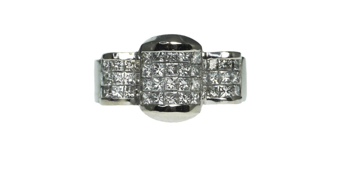 Composite Diamond Statement Ring
